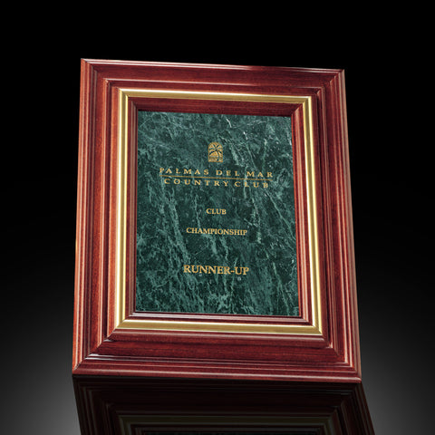 Green Marble Plaques