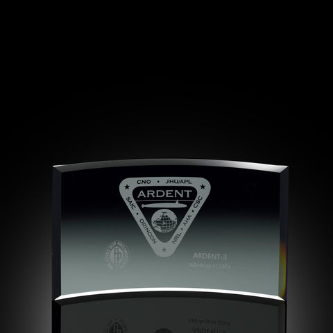 Contour Deluxe Black Glass Award