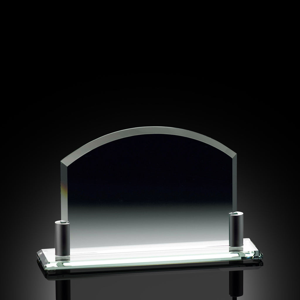 achievement arch horizontal jade glass award the recognition source. Black Bedroom Furniture Sets. Home Design Ideas
