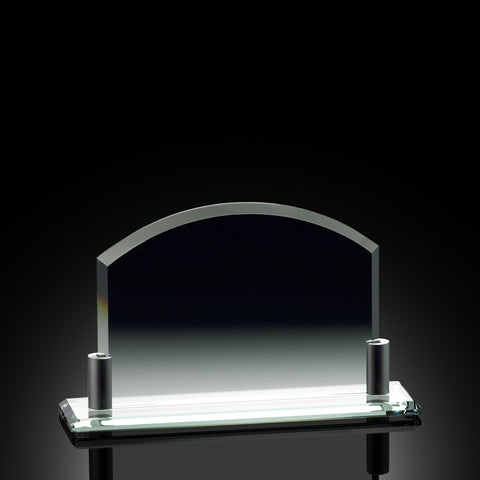 Achievement Arch Horizontal Glass Award