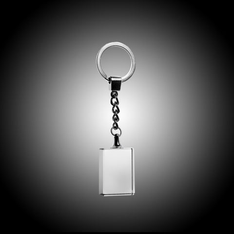 Rectangle Crystal Keychain