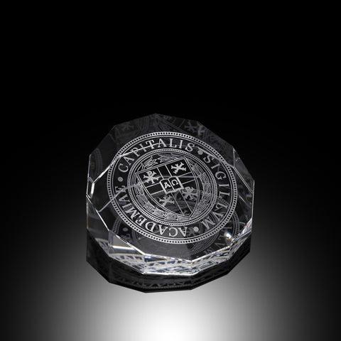 Crystal Double Octagon Paperweight