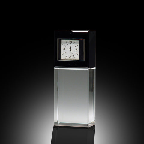 Best Wishes Elite Crystal Clock - Vertical