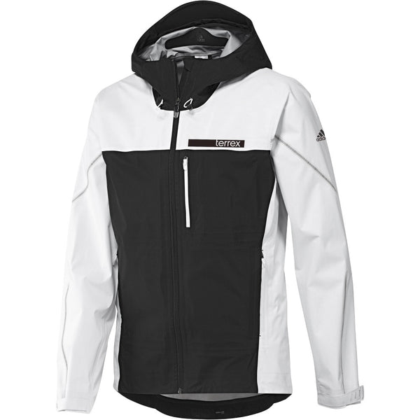 Adidas S09122 Men's Terrex GTX Active Shell 3 Jacket - White/Black [Front]