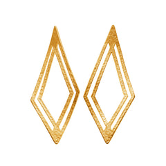 Earrings plated gold|Ohrringe vergoldet
