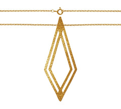 Necklace plated gold|Halskette vergoldet
