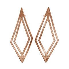 Earrings plated roségold|Ohrringe rosévergoldet