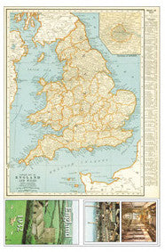 Map of England circa 1932 - Z015