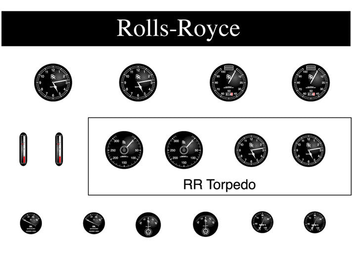 Rolls-Royce Instrument Faces - R015i