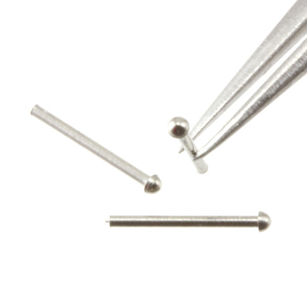 Rivet - 0.8 mm Head Diameter - Nickel Plated Brass - RT08n