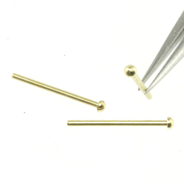 Rivet - 1.0 mm Head Diameter - Brass - RT10