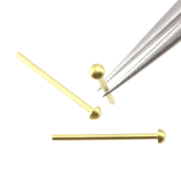 Rivet - 1.2 mm Head Diameter - Brass - RT12