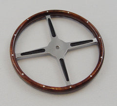Steering Wheel, Real Walnut - S001