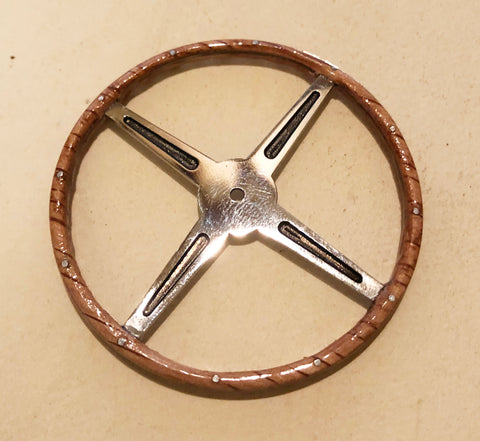 Steering Wheel, Real Oak - S004