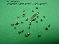 Nuts - Acorn - Nickel Plated Brass 1.0 mm - A007n