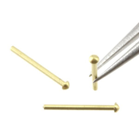 Rivet - 0.6 mm Head Diameter - Brass - RT06