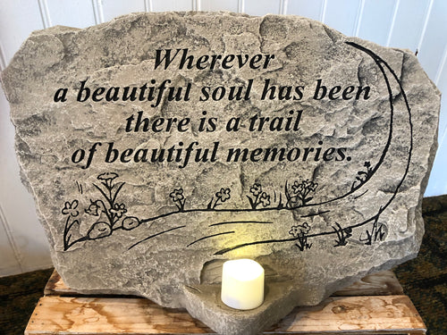 Lighted Memory Stone- Wherever a beautiful souls has been