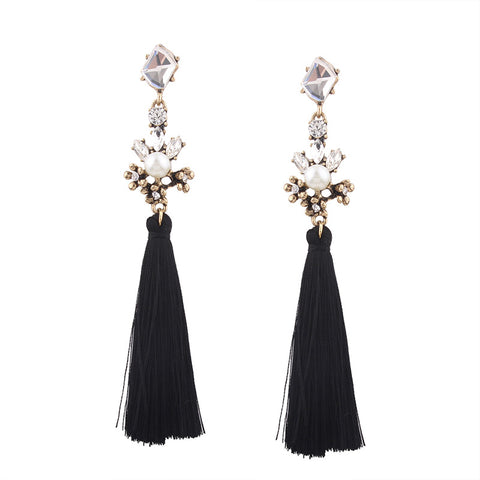 Starfire Tassel Drop Earrings