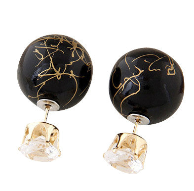 Double Pearls - Marble Black