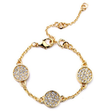Gold Medallion Bracelet