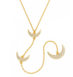 Crescent Long Necklace