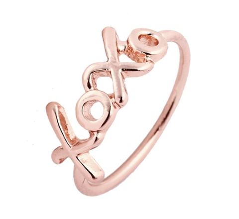 XOXO Ring - Rose Gold