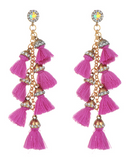 Pinata Tassel Drop Earrings - Purple