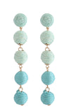 Cinq Drop Earrings - Aqua