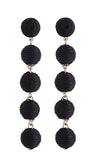 Cinq Drop Earrings - Black