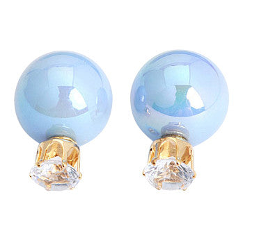 Double Pearls - Crystal Blue