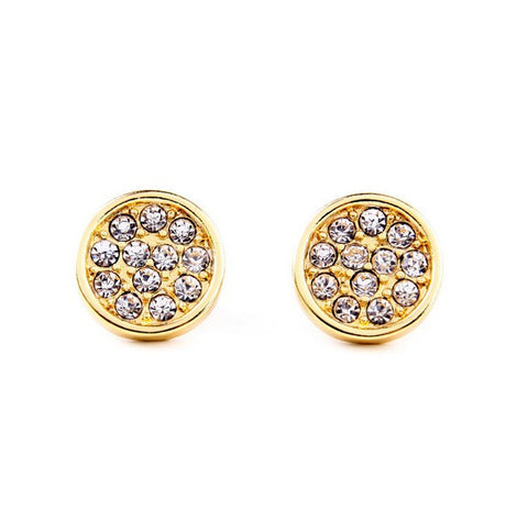 Gold Medallion Studs