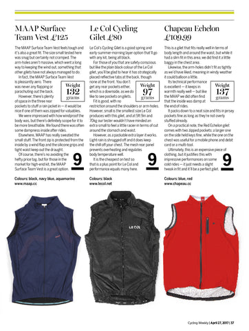 Cycling Gillet Review