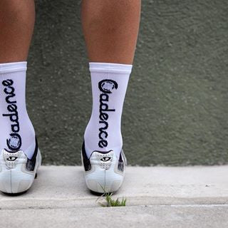 Cadence Stock Socks - white