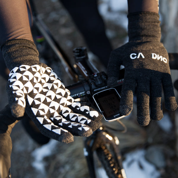 Cadence digits merino wool long finger cycling glove
