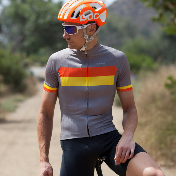 Cadence Deuce race fit cycling jersey. Made in Italy, premium fabrics