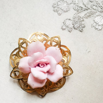 Rosebroche/rose brooch no43