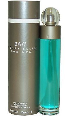 360 for Men by Perry Ellis Cologne 3.4 oz New in Box