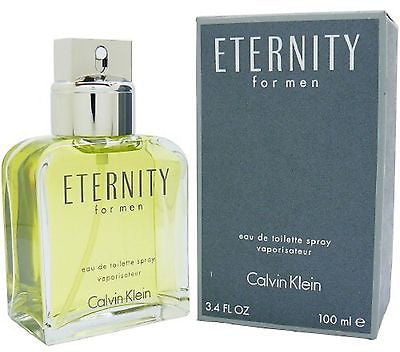 * ETERNITY FOR MEN * CALVIN KLEIN * 3.4 EDT *new in box