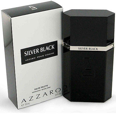 * AZZARO SILVER BLACK pour HOMME * Cologne 3.4 NEW BOX