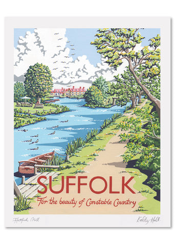 Suffolk Flatford Mill Signed Print