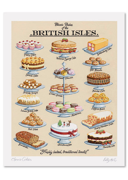 Classic Cakes Signed Print