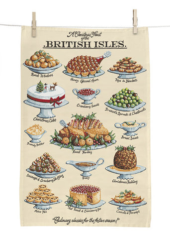 Christmas Feast Tea Towel