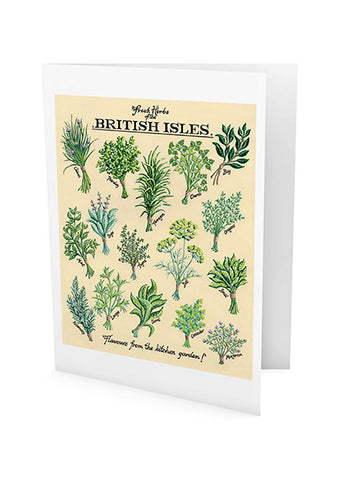 Fresh Herbs Greeting Card