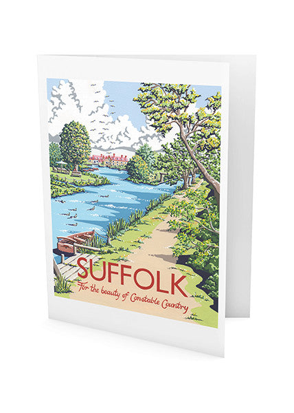 Suffolk Flatford Mill Greeting Card