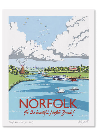 Norfolk Signed Print