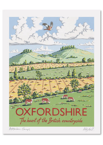 Oxfordshire Signed Print