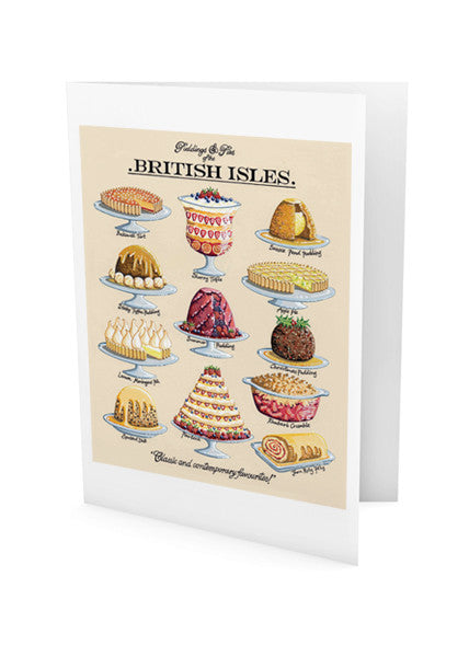 Puddings And Pies Greeting Card