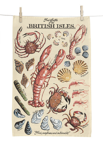 Fresh Shellfish Tea Towel
