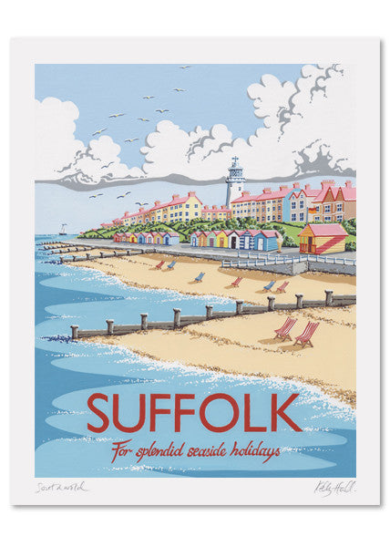 Suffolk Southwold Signed Print