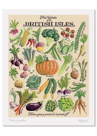 Fresh Vegetables Signed print